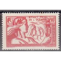 Océanie - numéro 125 - neuf avec charnière