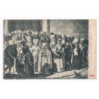 """CPA - (79) Niort - Sortie de Messe 1850 - Coiffes dites """"Grisettes"""" d'aprés Gellé"""