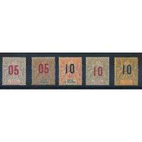 Cote d'Ivoire - numéro 36 à 40 - neuf avec charnière