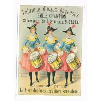 Carte Emile Champion fabrique d'eaux gazeuses - Centenaire Editions