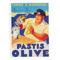 Carte Pastis Olive - Editions Clouet
