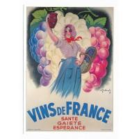 Carte Vins de France - L'avion Postal