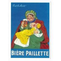 Carte Bière Paillette c'est la santé - Centenaire Editions