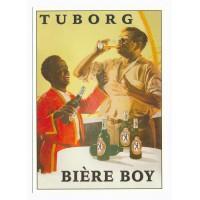 Carte Tuborg biere boy - Centenaire Editions