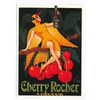 Carte Cherry Rocher liqueur - Claude Aubert Editeur