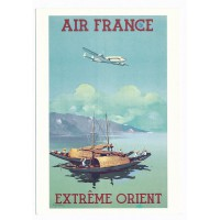 Carte Air France Extreme Orient - Collection Musée Air France
