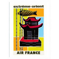 Carte Air France Extreme-Orient - Collection Musée Air France