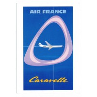 Carte Air France Caravelle Jean Colin - Collection Musée Air France