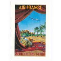 Carte Air France Afrique du Nord - Collection Musée Air France