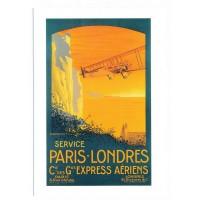 Carte Service Paris Londres - Collection Musée Air France