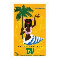 Carte Pacifique Sud TAI - Collection Musée Air France