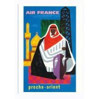 Carte Air France proche Orient - Collection Musée Air France