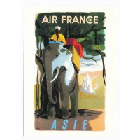 Carte Air France Asie - Collection Musée Air France