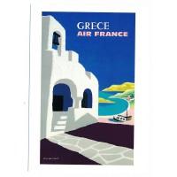 Carte Air France Grece - Collection Musée Air France