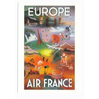 Carte Air France Europe - Collection Musée Air France
