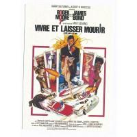 Carte Affiche de film Vivre et laisser mourir - Editions F.Nugeron