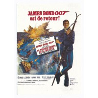 Carte Postale 10x15 Affiche de Film James Bond est de retour - Editions F.Nugeron