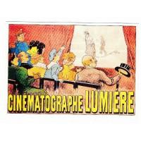 Carte Postale 10x15 Affiche de Film Cinématographe Lumière - Claude aubert éditeur