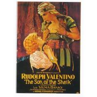 Carte Postale 10x15 Affiche de Film Rudolph Valentino - Editions F.Nugeron