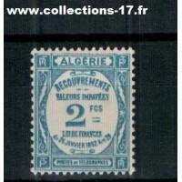 Algerie - Numéro 20 Taxe - Neuf avec charnière