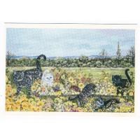 Carte Chats dans les Fleurs - Christel Le Vaillant