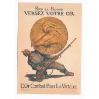 Carte Pour la France Versez votre Or - Floriscope