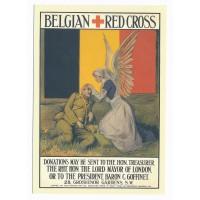Carte Affiche la Croix rouge Belge - Floriscope