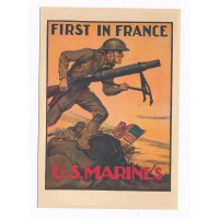 Carte Affiche recrutement U.S.Marines - Floriscope