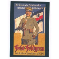 Carte Affiche de propagande allemande pour du vin petillant - Floriscope