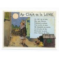 Carte Les chansons françaises Au clair de la lune - Centenaire Editions
