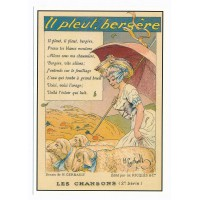 Carte les chansons française il pleut bergère - Centenaire Editions