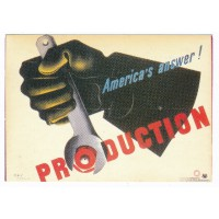 Carte Affiche production America's Answer - Editions F.Nugeron