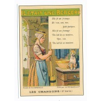 Carte Les chansons françaises il était une bergère - Centenaire Editions
