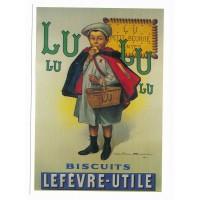 Carte Biscuits Lefèvre-Utile LU petit garçon - Centenaire Editions