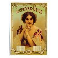 Carte Biscuit Lefèvre Utile Calendrier 1898 - Centenaire Editions