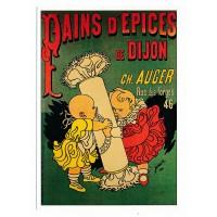 Carte Pains d'épices de Dijon CH. Auger - L'avion Postal