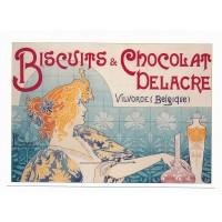 Carte Biscuits & Chocolat Delacre Belgique - L'avion Postal