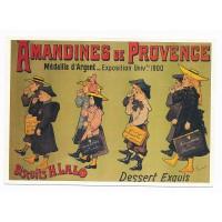 Carte Dessert Exquis Amandines de Provence - Claude aubert éditeur