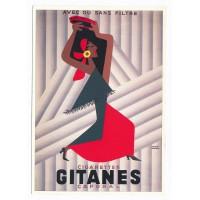 Carte cigarettes Gitanes caporal - Claude aubert éditeur
