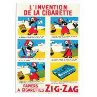 Carte l'invention de la cigarrette Zig-Zag - Claude aubert éditeur
