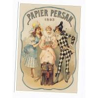 Carte Papier persan 1893 - L'avion Postal