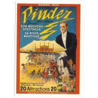 Carte cirque Pinder le véritable Pinder saison 1933 - Centenaire Editions