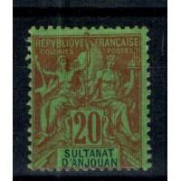 Timbres du Sultanat d'Anjouan - Numéro 34 - Neuf avec charnière