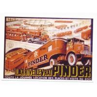 Carte cirque Le vrai Pinder arrive - Centenaire Editions
