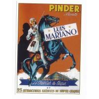 Carte cirque Pinder présente Luis Mariano - Centenaire Editions