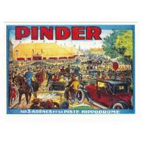 Carte cirque Pinder ses 3 arènes et sa piste hippodrome - Centenaire Editions
