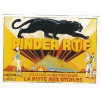 Carte cirque Pinder RTF la pistes aux étoiles - Centenaire Editions