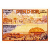 Carte cirque Pinder sans prénom - Centenaire Editions