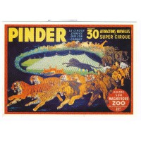Carte cirque Pinder Visitez son Zoo - Centenaire Editions