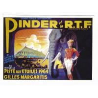 Carte cirque Pinder et la RTF 1964 - Centenaire Editions